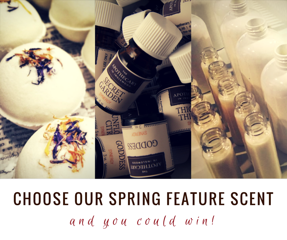 CONTEST! CHOOSE OUR SPRING FEATURE SCENT!